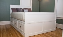 Custom-built storage bed