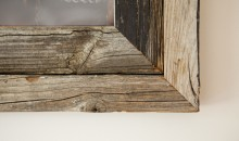 Pine picture frame - rustic detail