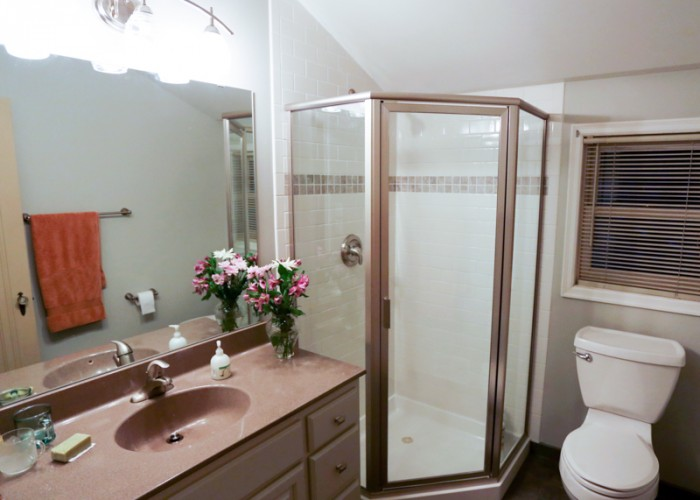 Simple updates gave this master bath a fresh, new look.